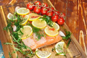 Read more about the article ON THE ROAD HEALTH – Multicooker Monday – Poached Salmon with Cucumber and Tomato Salad